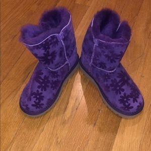 Girls UGGs Purple flowers NWOT
